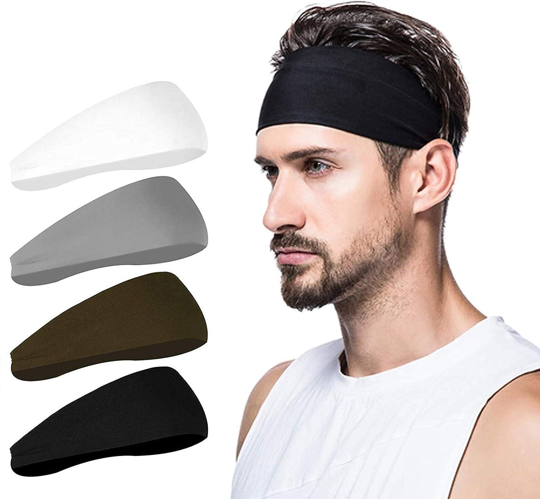 poshei  4 Pack Sports Mens Headband $9.32