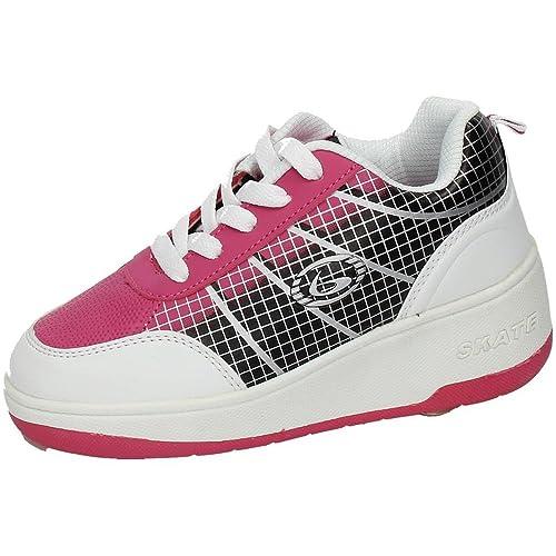 BEPPI 2150431 Zapatillas DE Ruedas NIÑA Deportivos Blanco-Fuxia 31: Amazon.es: Zapatos y complementos