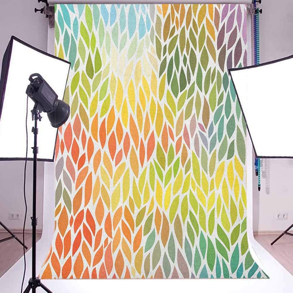 7x10 FT Vinyl Photography Background Backdrops,Fir Branches Square Framework Xmas Noel Celebration Symbols in Vibrant Colors Background for Child Baby Shower Photo Studio Prop Photobooth Photoshoot