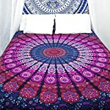 HANDICRAFTOFPINKCITY Double Bed Sheet Hippie Tapestry, Hippy Mandala Bohemian Tapestries, Indian ...