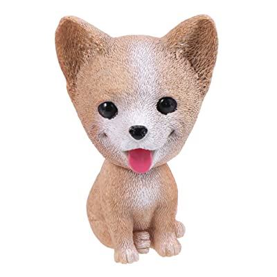 Amosfun Dashboard Nodding Heads Bobble Head Corgi Dog Car Dash Puppy Simulation for Car Vehicle Cake Decoration Decor Home Decorative: Home & Kitchen
