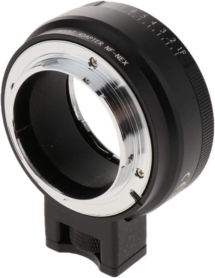 Baosity Electronic Auto Focus Adapter for Nikon F-Mount Lens to Sony E Mount Camera Body A7 A7R A7RIII A9 A6500