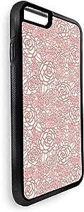 ديكالاك غطاء حماية خلفي لاجهزة ايفون 8 بلس بتصميم رسومات تشكيلية ازهار