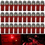 AMAZENAR 30-Pack Red Replacement Stock # 194 T10 168 2825 W5W 175 158 Bulb 5050 5 SMD LED Light ,12V Car Interior Lighting For Map Dome Lamp Trunk Dashboard Parking Lights - Best Value
