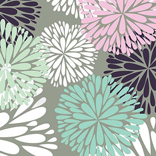Tissue Designer - Jillson Roberts Designer Printed Tissue, Delicate Flower, 24-Sheet Count (PT123)