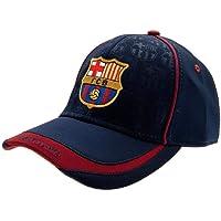 Barcelona FCB Debossed Baseball Cap Navy Maroon Adjustable