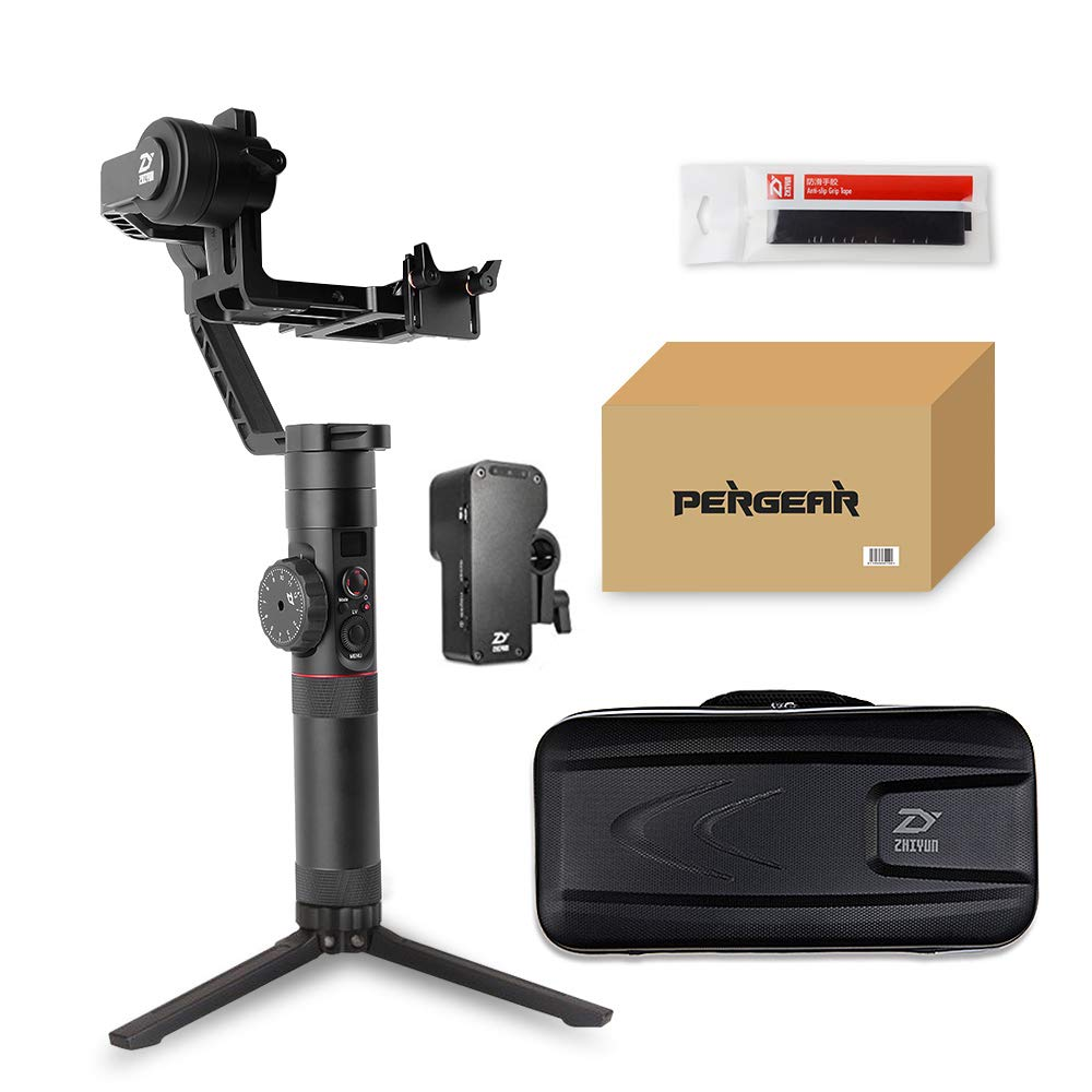 Zhiyun Crane 2 Follow Focus 3-Axis Handheld Gimbal, Buy Crane-2 Get Free Servo Follow Focus, 7lb Payload OLED Display 18hrs Runtime 1Min Toolless Balance Adjustment for Camera Weighing 1.1 to 7lb by zhi yun