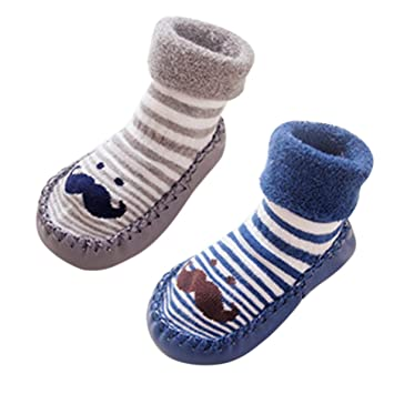 Amazon Com Kid S Baby Infant Cute Shoes Indoor Faux Leather Sole