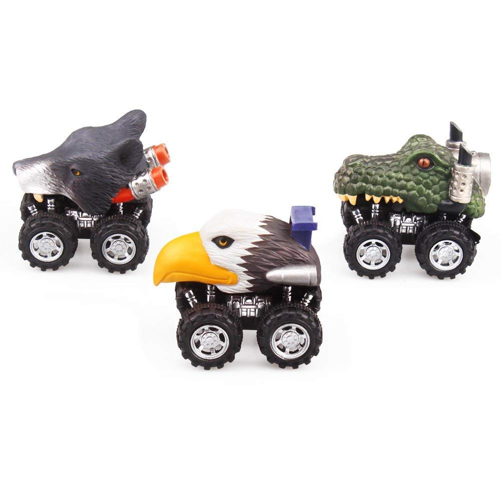 ZHMY Dinosaur Toys, Pull Back Dinosaur Cars, Creative Gifts for 3-12 ...