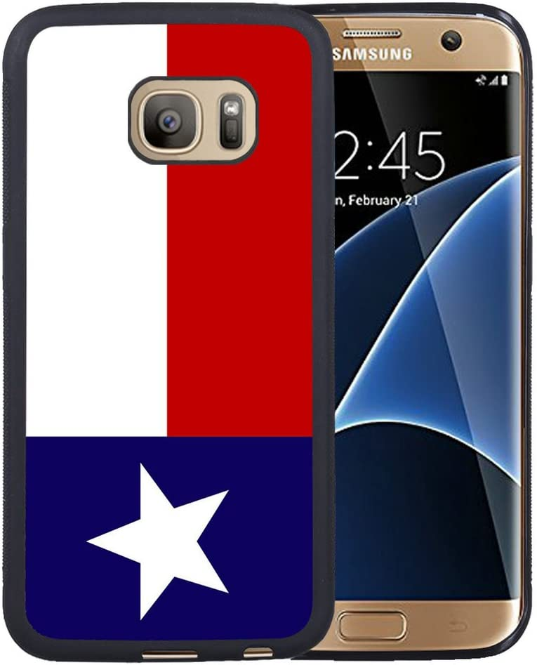 Galaxy S7 Edge CASE, S7 edge Case, Texas Lone Star Estado Bandera Funda de Goma en color negro para Samsung Galaxy S7 Edge: Amazon.es: Jardín