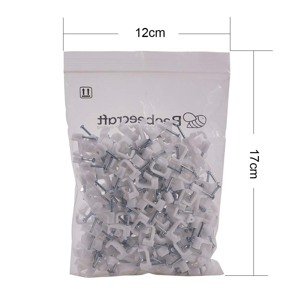 Increway 200/pcs /à Ongles Plat pour c/âble coaxial Fil de punaises Clips 10//12/mm Blanc