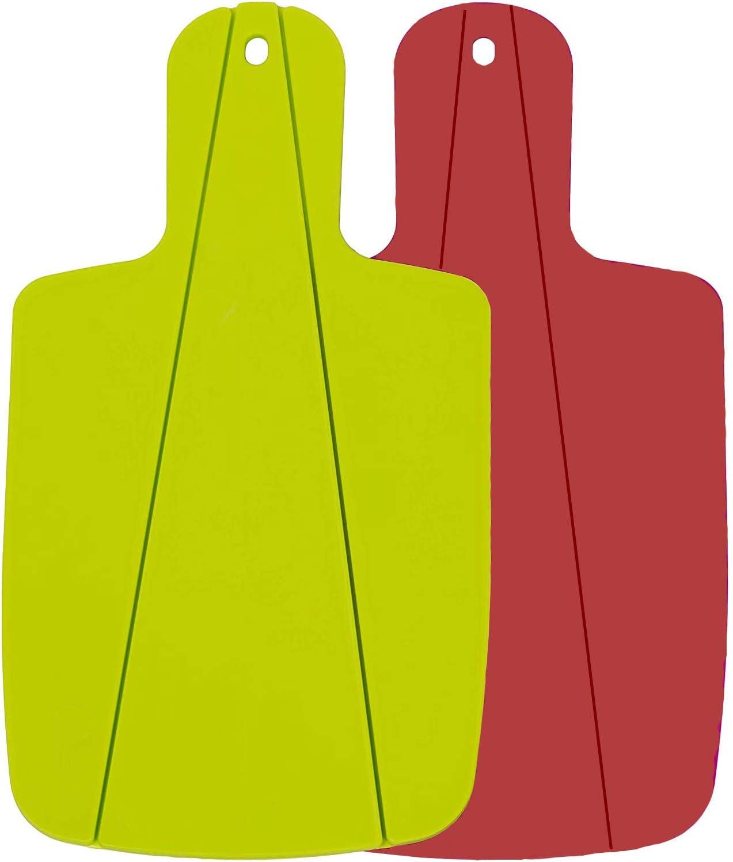 Verde y Rojo Mirrwin Tabla de Cortar Plegable Tabla de Cortar Frutas y Verduras Tabla de Corte con Manijas F/áciles de Agarrar Adecuado para Cocina Picnic Cortar Frutas Verduras y Carne 2 Piezas