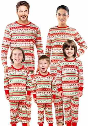 SUNNYBUY Christmas Family Matching Pajama Set Xmas Pyjamas Sleepwear  Holiday Pjs 6e9f93786