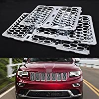 FMtoppeak Chrome Front Mesh Grill Insert For Jeep Grand Cherokee 2014-2016