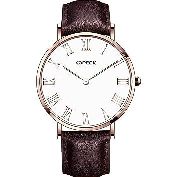 North King Cuarzo Relojes Fecha Pantalla Minimalista Impermeable Relojes de los Hombres Reloj Bonitos para Regalo de cumpleaños de Adultos: Amazon.es: ...