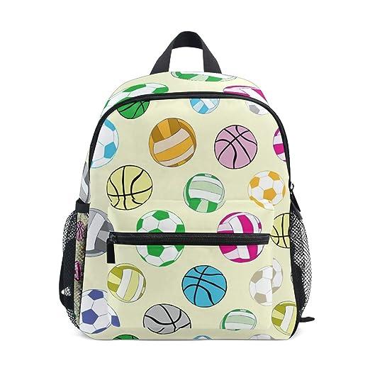 CPYang - Mochila para niños, diseño de balón de Baloncesto: Amazon ...