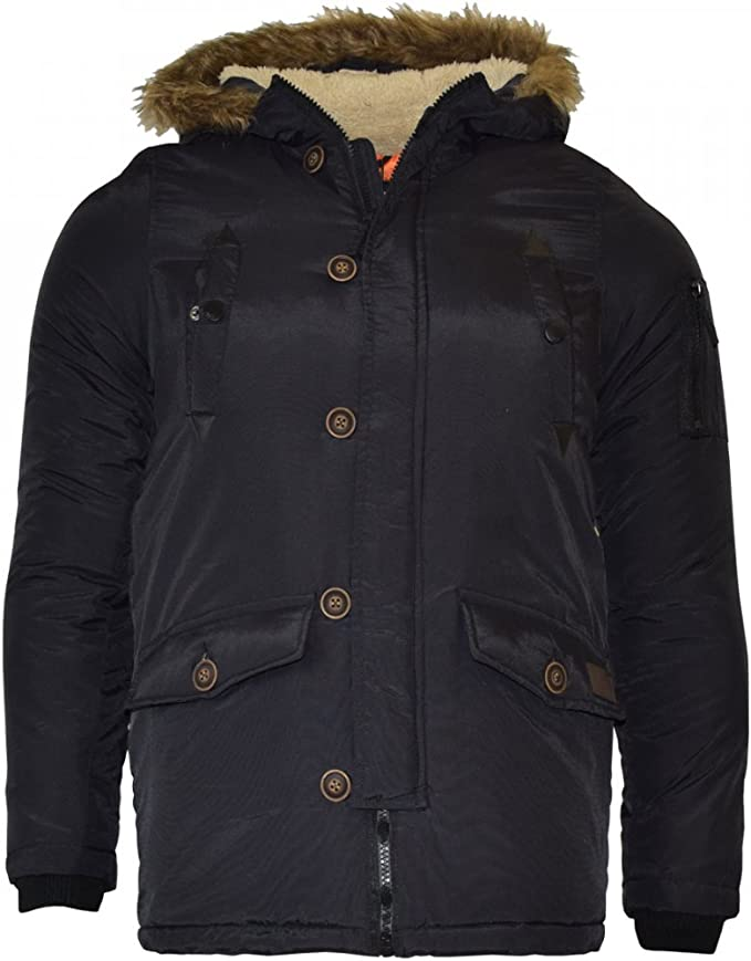 Boys Brave Soul Noel Parka Waterproof Hooded School Jacket Coat Kids Jacket