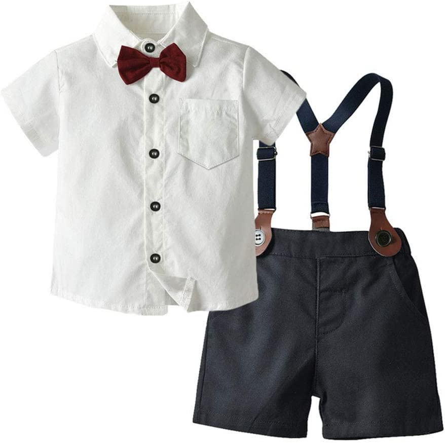 LGLE Baby Boy Ropa De Verano Camisa Blanca De Manga ...