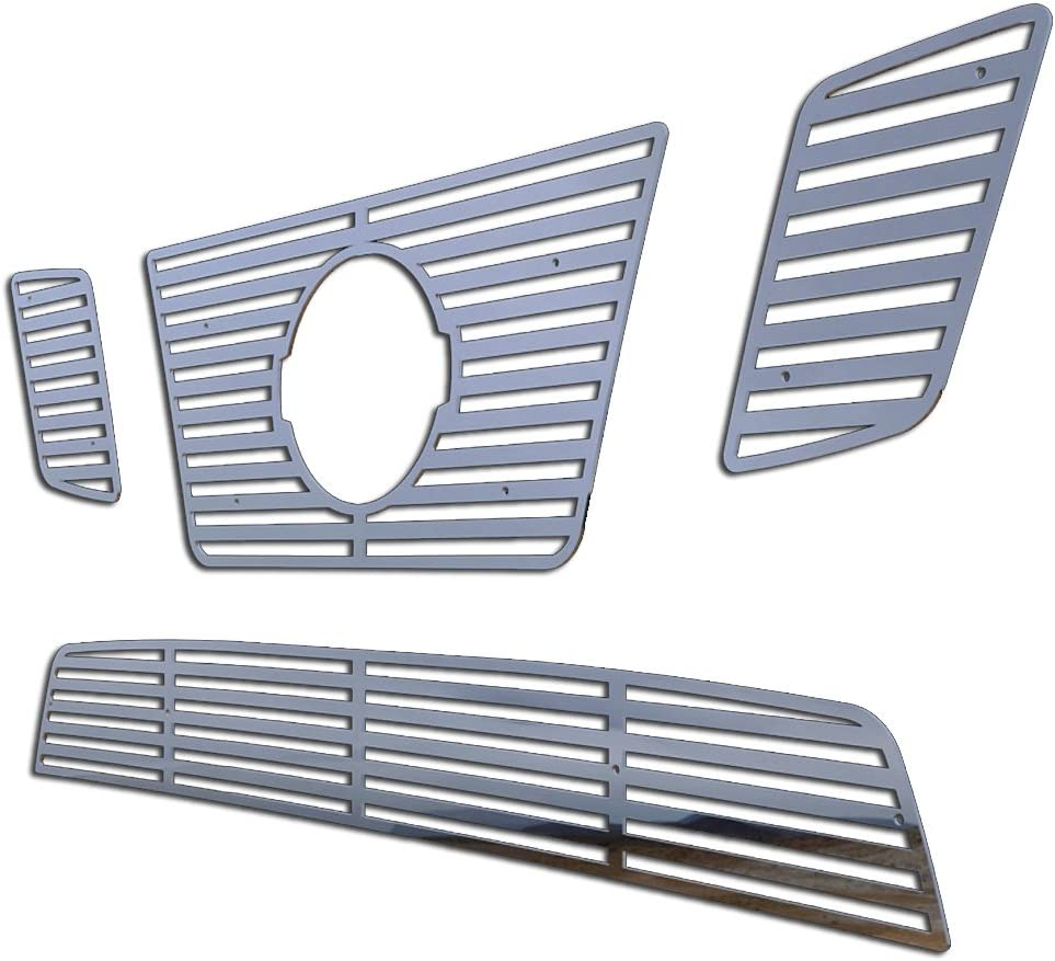 Ferreus Industries Polished Stainless Horizontal Billet Grille Grill Insert Trim fits 2009-2014 Nissan Frontier w// 32 Bumper Opening TRK-143-01