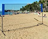 K&A Company Portable 10' x 5' Beach Badminton Tennis Volleyball Training Net with Carrying Bag Outdoor Sport