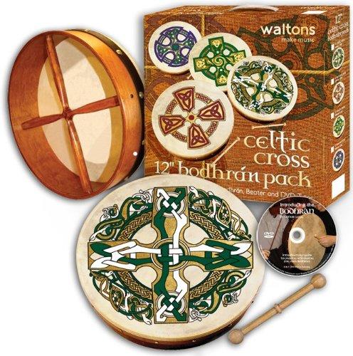 15″ Waltons Gaelic Cross Design Irish Bodhrán Pack