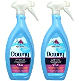 Downy Wrinkle Release Spray Plus, Static Remover, Odor Eliminator, Fabric Refresher and Ironing Aid, Light Fresh Scent, 33.8 Fluid Ounce (Pack of 2)