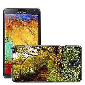 Etui Housse Coque de Protection Cover Rigide pour // M00152261 Otoño Hojas de la estación del color // Samsung Galaxy Note 3 III N9000 N9002 N9005