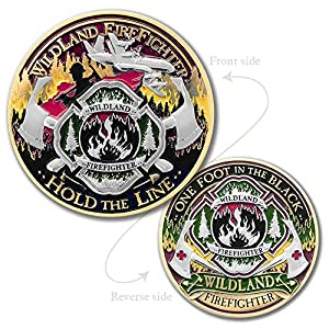 Wildland Firefighter Challenge Coin · Hold The Line by Armor Coin