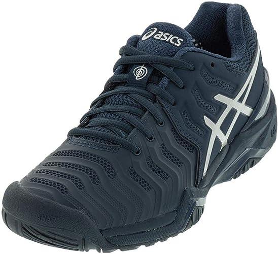 Asics Gel Resolution 7 Novak Djokovic Us Open Mens Tennis Shoe 7 Navy Blue Silver Amazon Co Uk Shoes Bags