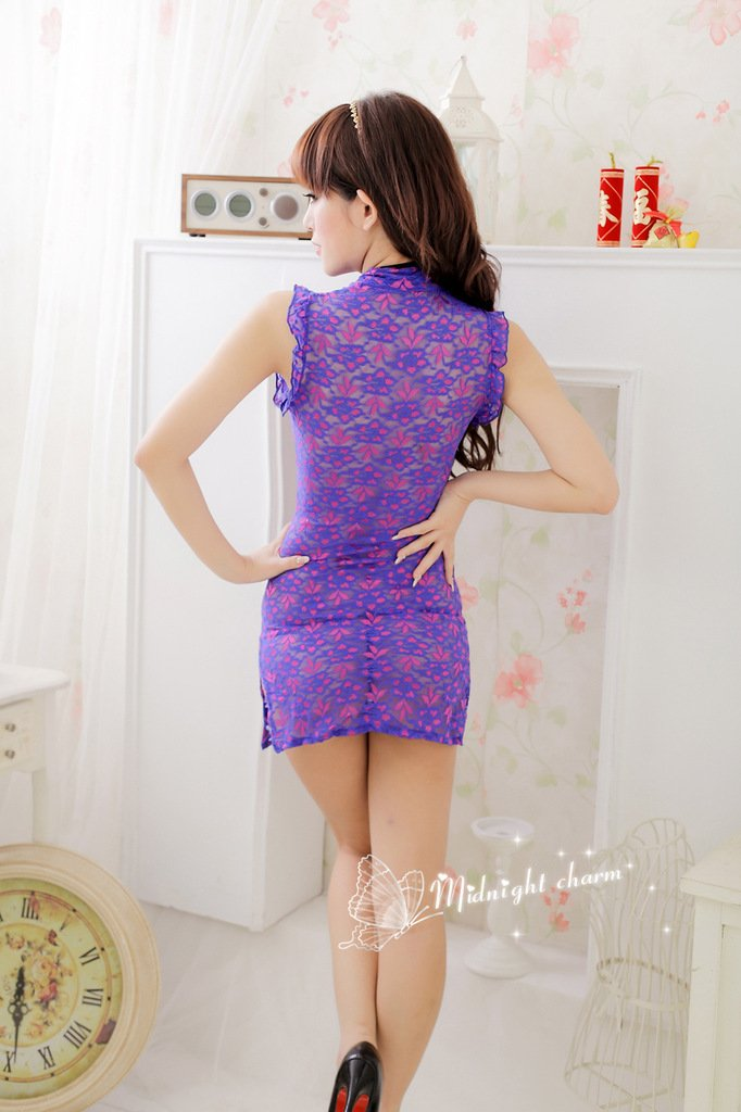 Amazon.com: AREBON Chinese Cheongsam Costume Dream one Piece Fishnet high Waist Cover up Two Bikini Cheeky Gay Pack Prime Sale Romper Jeans (Purple): ...