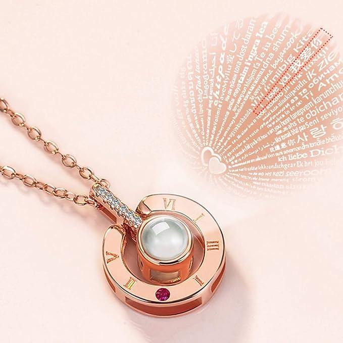 Amazon.com: Weka I Love You - Collar con colgante para mujer ...