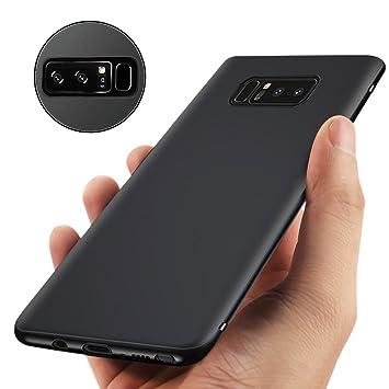 Infreecs Funda Galaxy Note 8, Negro Silicona Fundas para Samsung Galaxy Note 8 Funda Protectora con Alta Resistencia Ultra Delgado Note 8 TPU Carcasa ...