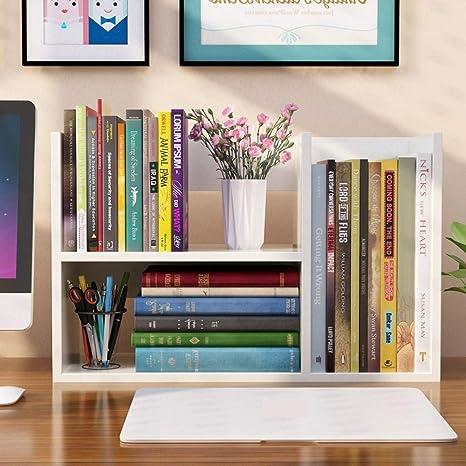 Estanteria Encima Escritorio.Yzibei Libreria Pequena Estanteria De Escritorio Para