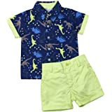 Baby Boy Short Sleeve Shirt Tops Short Pants Outfit Summer Beachwear Toddler 2Pcs Clothes Set