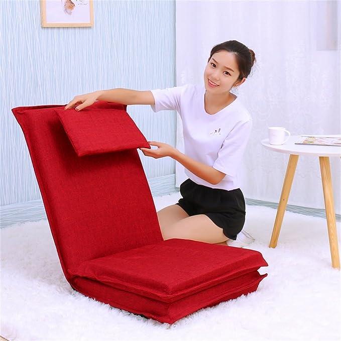Amazon.com: gzh silla de piso cama computadora silla ...
