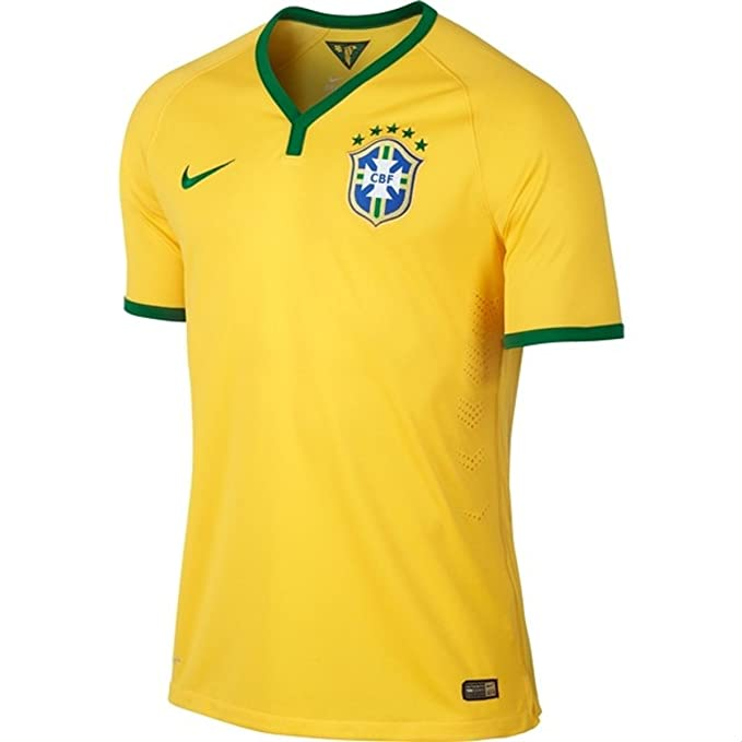daf4e6a19cd Nike Football Jersey   2014-2015 Brazil World Cup FIFA Home Soccer Shirt  Stadium Version  Amazon.co.uk  Clothing