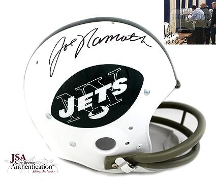 low priced e5358 0d4a0 Amazon.com: Joe Namath Autographed/Signed New York Jets ...