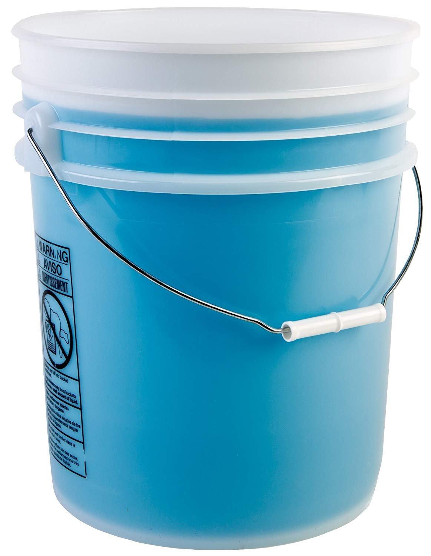 Hudson Exchange Premium 5 Gallon Bucket with Gamma Seal Lid, HDPE, Natural