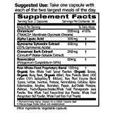 Blood Sugar Health - with Gymnema Sylvestre, Cinnamon Bark, & Alpha Lipoic Acid - Supports Glucose & Carbohydate Balance, Minimize Sweet Cravings - Emerald Laboratories - 60 Vegetable Capsules