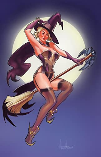 Amazon.com: Mercy Halloween Witch Retro Pin Up Girl: Handmade