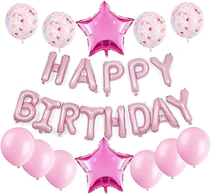 PA 10 x 3rd BIRTHDAY GIRL// AGE 3 GIRL PINK AND BABY PINK BIRTHDAY BALLOONS