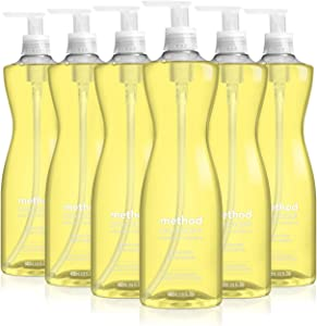 Method Lemon Mint Dish Soap, Pump Bottles, 18 Fl Oz, Pack of 6