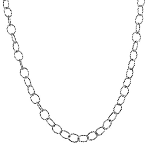 """Carolyn Pollack Genuine .925 Sterling Silver 28"""" Chain Necklace"""