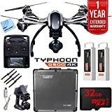 Yuneec Typhoon Q500 4K Quadcopter Drone UHD Ultimate Bundle includes Custom Case, Two Batteries, 32GB Card, Microfiber Cloth, and 1 Year Warranty Extension