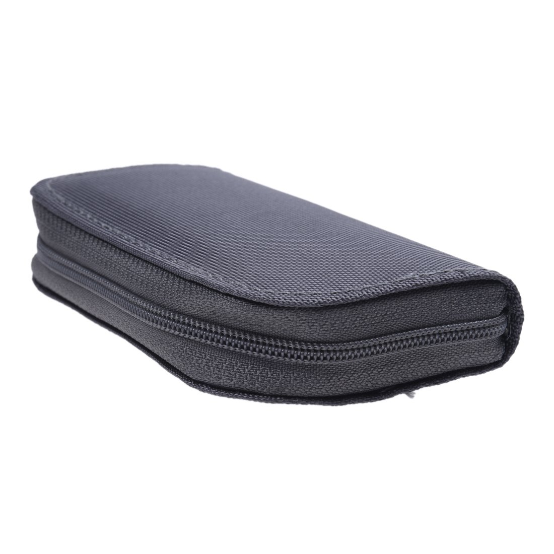 R 22 slots Pouch Holder For Micro Memory SD SDHC MMC CF Card Case SODIAL Multicolore gray