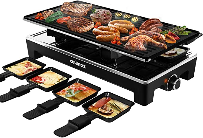 CUSIMAX Raclette Grill Electric Grill Table - Best Design