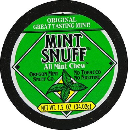 Oregon Mint Snuff Co. - Mint Snuff All Mint Chew - Original Mint Flavor 1.2oz Tin (12 Cans)
