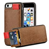 iPhone 7 Wallet Case, iPhone 7 Leather Case, LAMEEKU Apple 7 Shockproof cases with Credit Card Slot Holder & ID Pockets, Protective Phone Cover for Apple iPhone 7 4.7 inches Light Brown