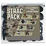 Alliance Sterling STRAC (Strike Team Ready Around The Clock) Combo Pack, 16 Bands Total Including 8 STRAC Black EPDM Rubberbands and 8 Black EPDM Gear Wrapz in Zip Close Poly Pouch - 7812