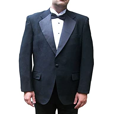 Broadway Tuxmakers Mens Tuxedo Jacket One Button Black With Satin